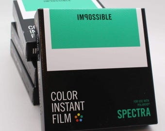 Impossible Project Colour / Color Instant Film for use with Spectra / Image Cameras - Brand-new Stock - Classic White Frame