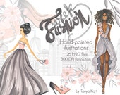 Fashion Week Clipart, Girly Clipart, Fashion Clipart, Hand-painted Clipart, New York Clipart,Planner graphics, Floral clipart, High heels