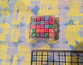 Mini dice colored