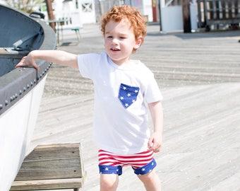 Patriotic T-shirt - Fourth of July, Americana, American Flag, Baby One Piece, Baby T-shirt, Baby Shirt, Toddler Shirt, Toddler T-shirt