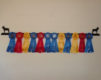 Showoff Ribbon Rack #0161W - Boston Terrier