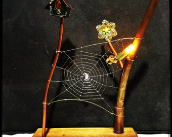Steampunk Spider Web Lamp - Ambient Light - free postage in AU