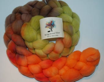 4oz organic polwarth roving (combed top)