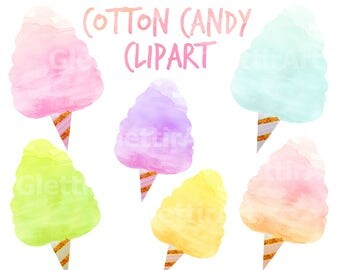Cotton Candy Clipart, Sweets Clipart,Food Clipart, for personal and commercial use, scrapbooking, instant download, planner stickers