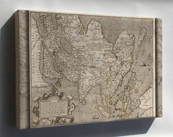 Canvas 24x36; Map Of Asia 1602