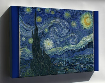 Canvas 24x36; Starry Night Vincent Van Gogh, The Starry Night