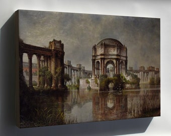 Canvas 24x36; Palace Of Fine Arts And The Lagoon #031215