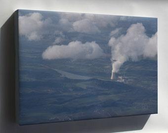 Canvas 24x36; Isar Kernkraftwerk Nuclear Power Plant 2