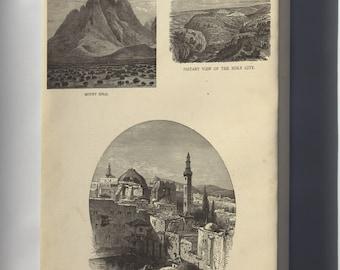 Canvas 24x36; View Of Mount Sinai Holy Sepulchre Jerusalem 1881