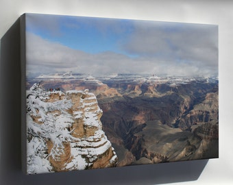 Canvas 16x24; Grand Canyon In Winter