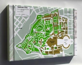 Canvas 16x24; Map Of Vatican City