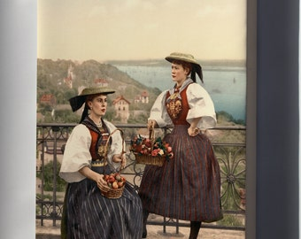 Canvas 16x24; National Vierlander Costume, Hamburg, Germany 1890