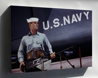 Canvas 16x24; U.S. Navy 1942   M1919 Browning Machine Gun