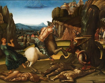 16x24 Poster; Saint George And The Dragon By Luca Signorelli