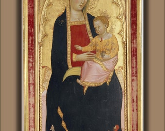 16x24 Poster; 3 Cecco Di Pietro, Madonna With Child 1386