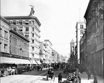 16x24 Poster; Broadway North From Fourth Street, Downtown Los Angeles, 1903-1905 (Chs-1876)