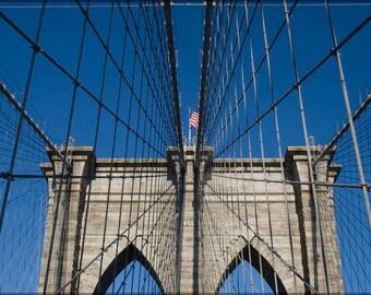 16x24 Poster; Brooklyn Bridge Detail
