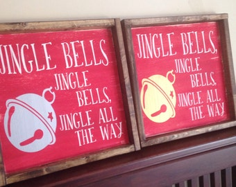 SILVER* Jingle Bells Sign
