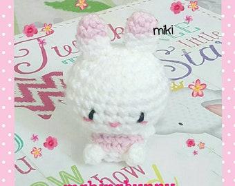 Pinky Bunny amigurumi, kawaii amigurumi bunny, crochet bunny, cute plush bunny crochet, Easter gift, Easter bunny plush, kawaii amigurumi
