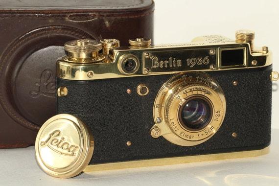 Leica Russian Replica & Lens Elmar f3.5/50mm Gold/Black Case (FED Copy) N183024
