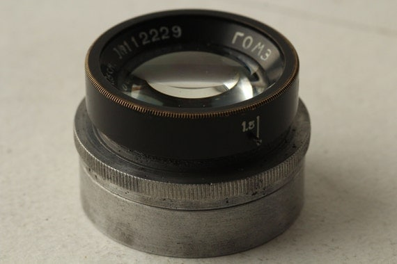 Rare Industar-7 lens 3.5/10.mm for Tourist pre-war folding camera #112229q