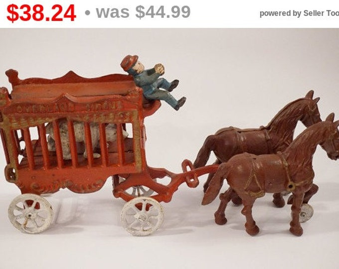 Vintage Cast Iron Circus Cart