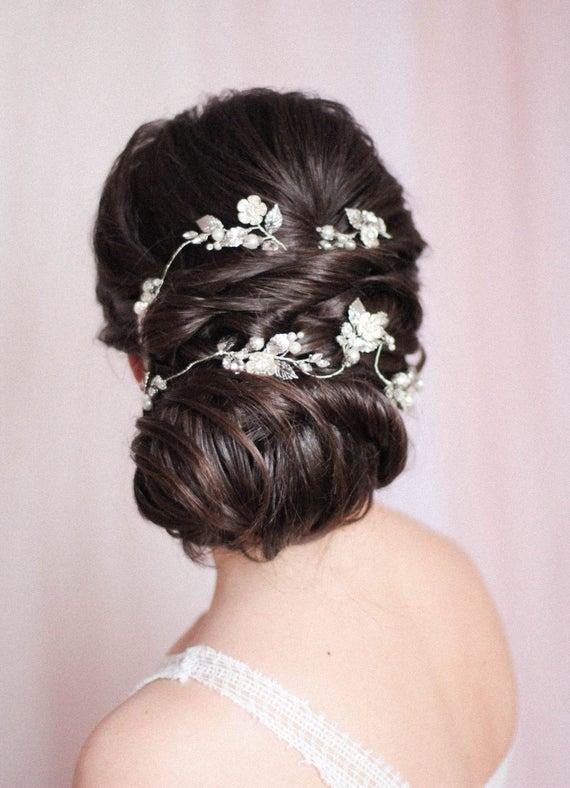 Bridal Hair Vine Extra Large Hair Vine Rhinestone Headpieece Bridal Headpiece Wedding Headdress Bridal Hair VIne Hair Wrap Hair Vine