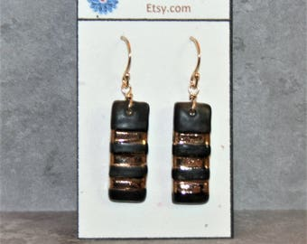 Elegant Karate Black Belt Earrings (THIRD DEGREE lady)! Celebrate your rank or honor your family members acheivement!