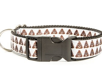 Poop Emoji Dog Collar. Poop Dog Collar. Funny Dog Collar. Hipster Dog Collar. Pattern Dog Collar.
