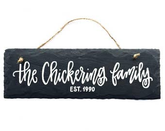Personalized Family Sign | Slate Sign