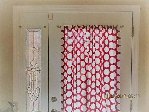 red door panels custom foyer rod pocket front door entry. Black Bedroom Furniture Sets. Home Design Ideas