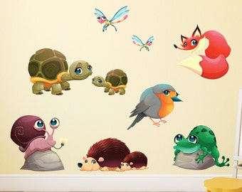 Cute Baby Forest Animals Wall Stickers - WDDASA10050