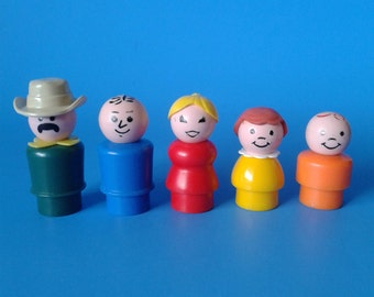 "Fisher Price Little People "" #916 Zoo People "" 1970's"