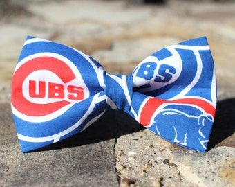 Cubs Bow Tie | Chicago Cubs | Baseball Bow Tie | Sports Bow Tie | Baseball Team | Gifts for Him | Bowtie | Kids Baseball Bow Tie