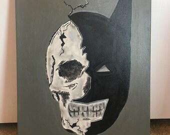 Batman Dark Knight DC Comics Art Painting Acrylic Canvas