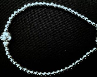 Sterling silver 925 plated Skull bracelet UK