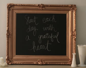 Wedding Chalkboard, Farmhouse Decor, Kitchen Chalkboard, Chalkboard,Baroque Frame,Office Chalkboard,Gold Framed Chalkboard,Framed Chalkboard