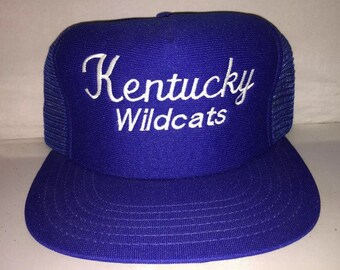 Vintage Kentucky Wildcats National Champions Snapback hat cap rare 90s NCAA basketball final four deadstock mesh trucker 80s march madness