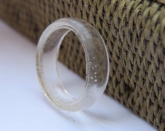 Beautiful Handmade Resin Clear Transparent Ring, Handcrafted ring, Translucent ring, Gothic style ring, Hyper allergenic, Durable resin,Gift