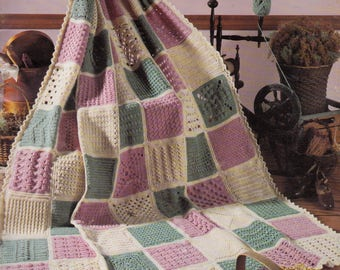 Leisure Arts Leaflet 555 63 Easy to Crochet Pattern Stitches Heirloom Afghan Patterns