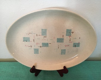 "Vernon Ware Heavenly Days Oval Platter 13 1/2"" X 10"""