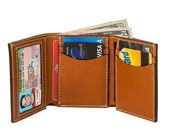 Leather Trifold Wallet W932S