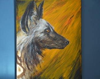 African Wild Dog Original Painting