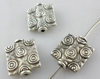 32/300pcs Tibetan Silver Rectangle WHORL Spacer Beads 10x12mm