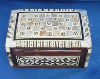 Wooden Inlaid Trinket Box