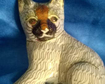 Beautiful Chinese Cloisonne Cat Figurine