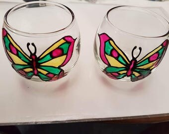 Butterfly tealight holders