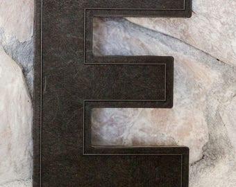 Vintage Letter E - Marquee Letter E - Black E