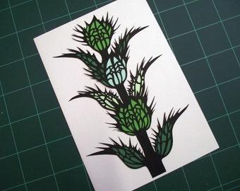 A4 Hand Cut Plant Life #3 Botanical Paper Cut