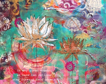 yoga art, yoga painting, yoga gifts, yoga wall art, yoga studio decor, yoga artwork, yoga print, lotus artwork, lotus print, mud lotus, yoga